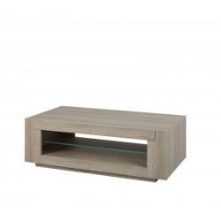 Table décor chêne gris