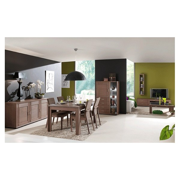 zen salle manger ch ne massif bross salles manger au meubles haan. Black Bedroom Furniture Sets. Home Design Ideas