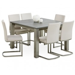 Ensemble table carré + 6 chaises