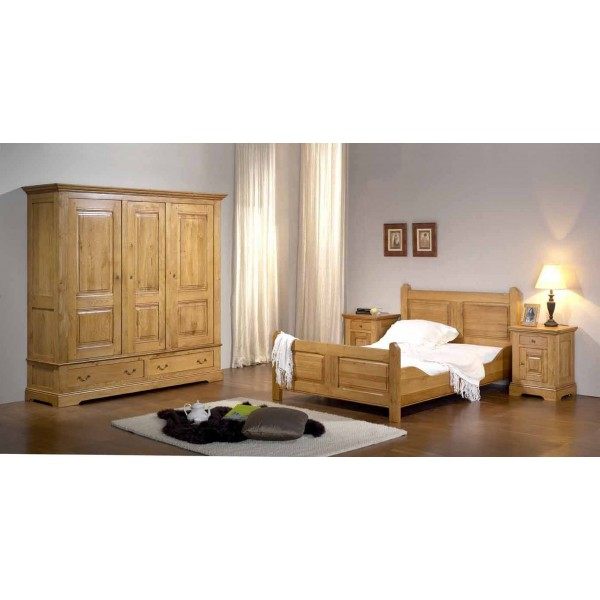 honfleur chambre ch ne massif chambres coucher au meubles haan. Black Bedroom Furniture Sets. Home Design Ideas